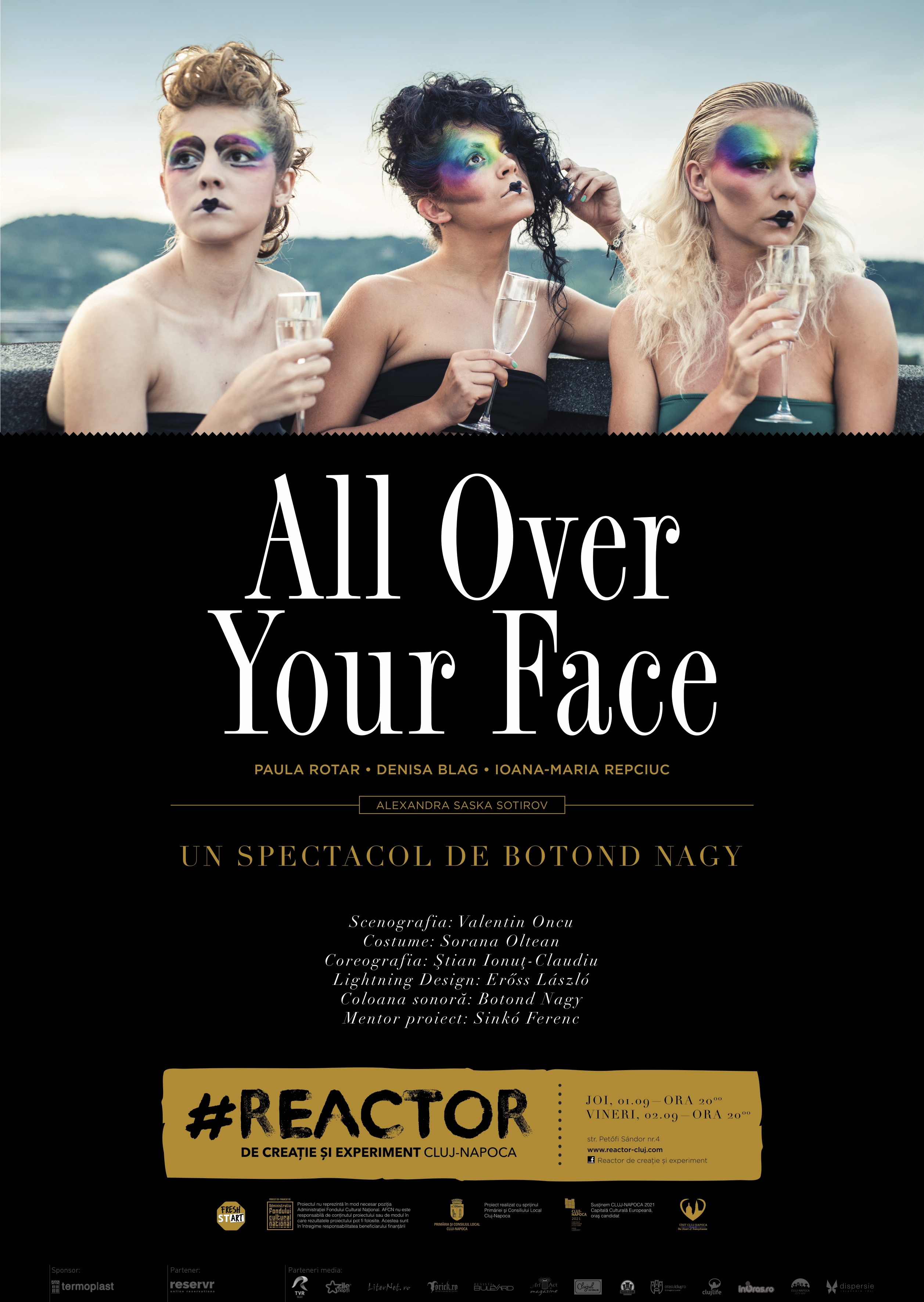 all over your face